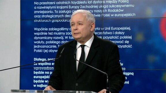 J. Kaczyński zaproponował partiom podpisanie deklaracji ws. euro