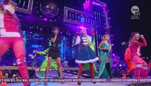 Cleo, Sabina Jeszka i Natalia Capelik - Muianga podczas koncertu sylwestrowego