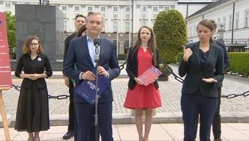 Spotkanie w Pałacu Prezydenckim. Biedroń zmienia zdanie i stawia warunek