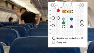 Pasażer samolotu zaraził koronawirusem cztery osoby. Zbadano, gdzie kto siedział