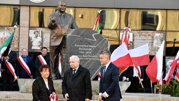 Pomnik Przemysława Gosiewskiego w Kielcach. Kaczyński: zasłużył, by mieć inne pomniki
