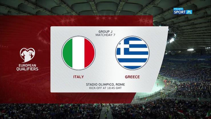 Włochy - Grecja 2:0. Skrót meczu