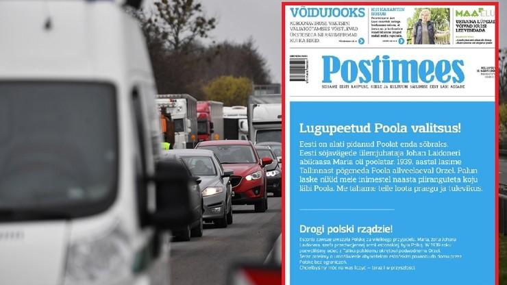 Estoński dziennik zaapelował do polskiego rządu. Jest odpowiedź ambasady
