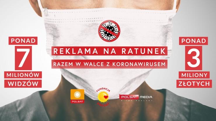 Dzięki widzom Polsatu do szpitali trafią 3 mln zł. Pieniądze pomogą w walce z koronawirusem