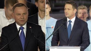 2020-07-13 Wybory prezydenckie. Wyniki late poll z 50 proc. komisji