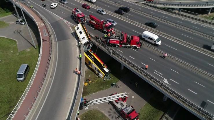 Wypadek autobusu w Warszawie. Trzy miesiące aresztu dla kierowcy