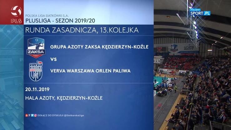 ZAKSA Kędzierzyn-Koźle - Verva Warszawa Orlen Paliwa 2:3. Skrót meczu
