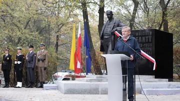 Warszawa: odsłonięto pomnik Wojciecha Korfantego. Uroczystości z udziałem prezydenta