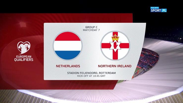 Holandia - Irlandia Północna 3:1. Skrót meczu