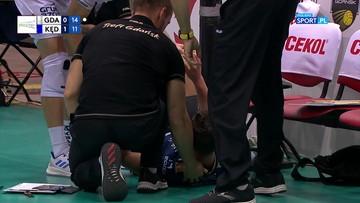 Krwawa interwencja Toniuttiego! Siatkarz ZAKSY wpadł w krzesełka