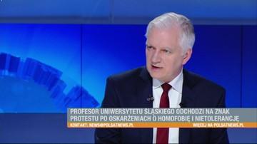 """""""Rzecznik dyscyplinarny skompromitował się jako człowiek"""". Gowin o sprawie prof. Budzyńskiej"""