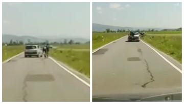 Groźny wypadek. 18-latek specjalnie zajechał drogę rowerzystom [WIDEO]