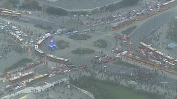 Kolejny dzień protestów. Manifestujący zablokowali Warszawę