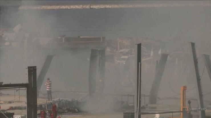 Bejrut: pożar w porcie częściowo ugaszony