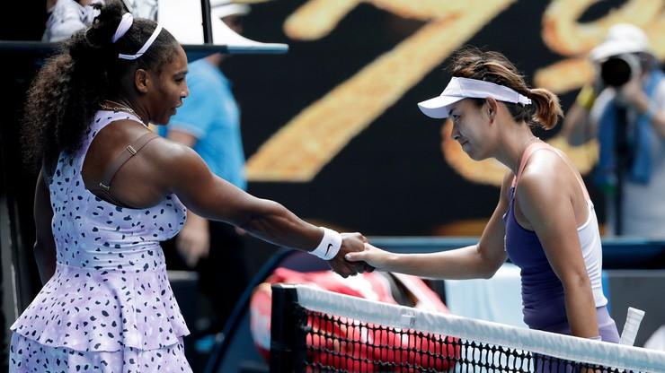Serena Williams odpadła w trzeciej rundzie Australian Open