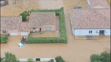 Powodzie na południu Francji. Wstrzymano kursowanie pociągów
