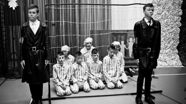Przedstawienie w szkole pod Zamościem. Dzieci przebrane za gestapo zagazowały więźniów