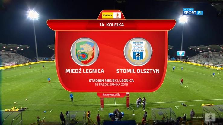 2019-10-18 Miedź Legnica - Stomil Olsztyn 4:1. Skrót meczu