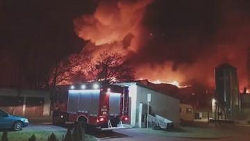 Potężny pożar w Wielkopolsce. Spłonęła hala produkcyjna