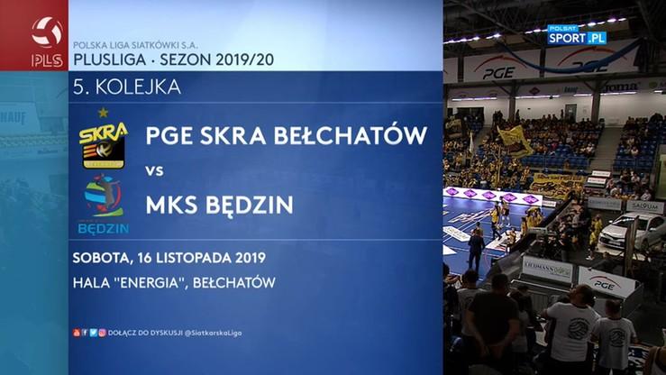 PGE Skra Bełchatów - MKS Będzin 3:1. Skrót meczu
