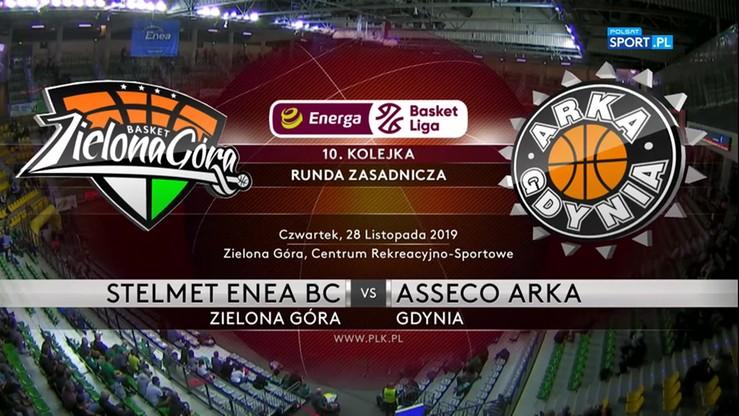 Stelmet Enea BC Zielona Góra - Asseco Arka Gdynia 87:65. Skrót meczu