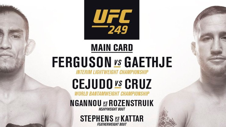 UFC 249: Karta walk