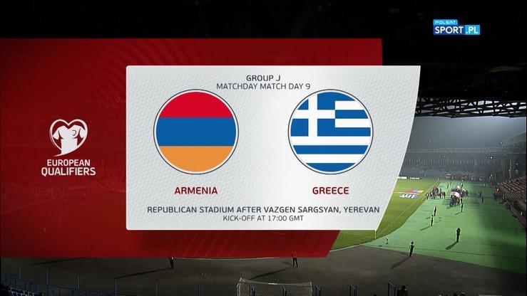 Armenia - Grecja 0:1. Skrót meczu