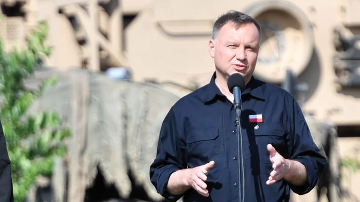 Duda: obecność żołnierzy USA w Polsce to znak przyjaźni