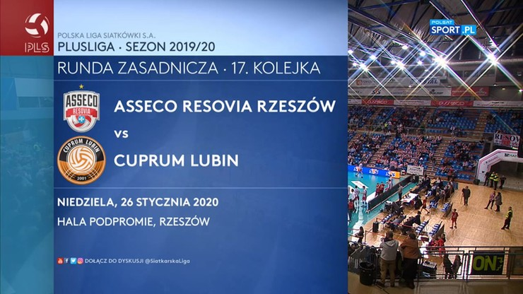 Asseco Resovia - Cuprum Lubin 0:3. Skrót meczu