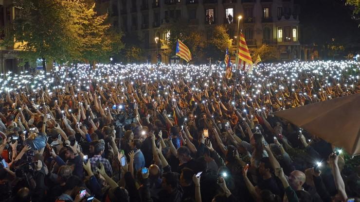 W Katalonii manifestowali zwolennicy jedności Hiszpanii
