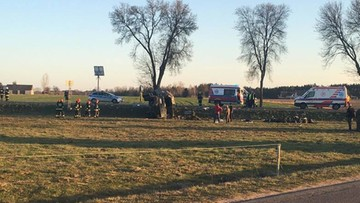 Żołnierze WOT poszkodowani w wypadku wojskowej ciężarówki. Na miejscu śmigłowce LPR