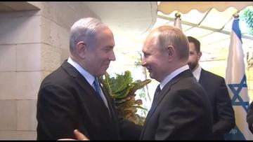 """Putin i Netanjahu na uroczystości odsłonięcia pomnika. """"Symbol wspólnej pamięci"""""""
