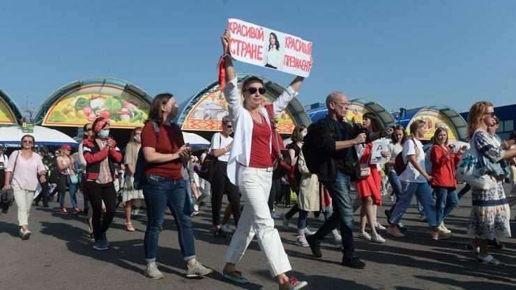 Białoruś: zatrzymania dziennikarzy w czasie protestu [WIDEO]