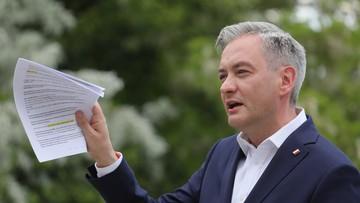 """Biedroń przedstawił """"wielki plan odbudowy Polski"""""""