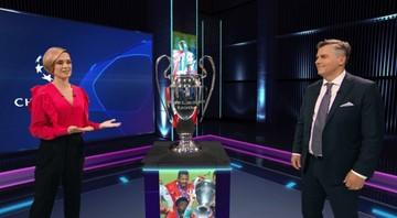 Wyjątkowy gość studia Polsatu Sport Premium. Puchar zawitał do Warszawy (WIDEO)