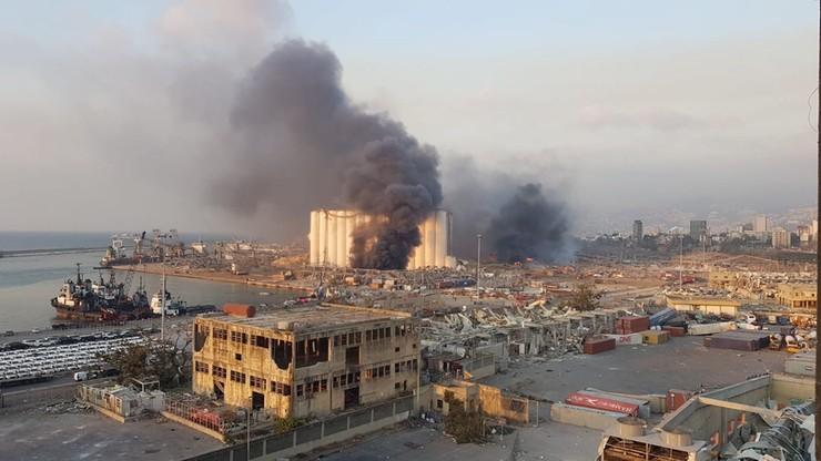 Dwie potężne eksplozje w Bejrucie