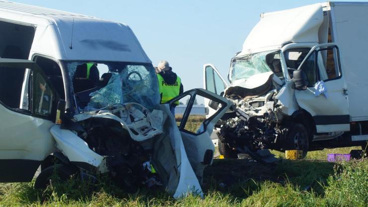 Zderzenie busów w Świdniku. Jedna osoba nie żyje, sześć jest rannych
