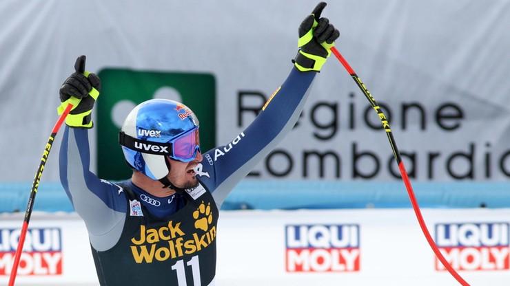 Alpejski PŚ: Kolejny sukces Parisa w zjeździe w Bormio