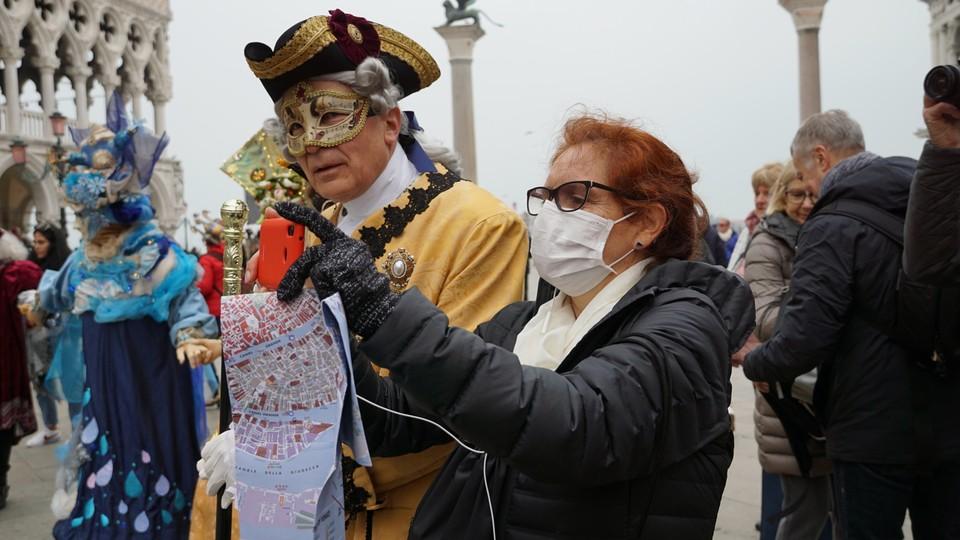 Karnawał w Wenecji odbywał się w cieniu koronawirusa