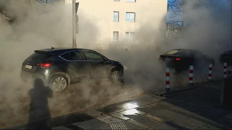 Awaria rury w Warszawie