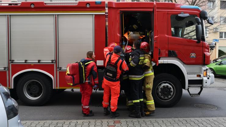 Strażacy zawieźli pacjenta do szpitala. Bo nie było karetki