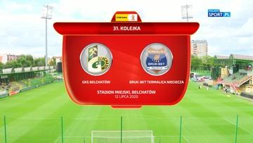 GKS Bełchatów - Bruk-Bet Termalica 0:2. Skrót meczu