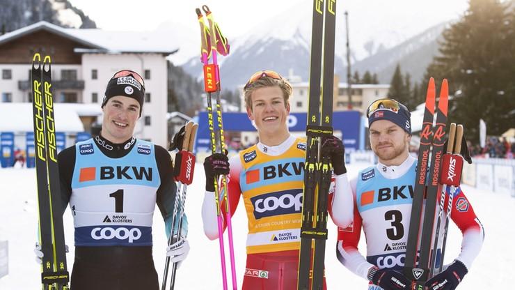 PŚ w biegach: Klaebo i Svahn najlepsi w sprincie w Davos