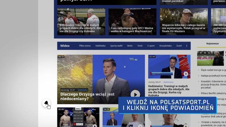 Jeszcze bliżej sportu czyli powiadomienia push w PolsatSport.pl