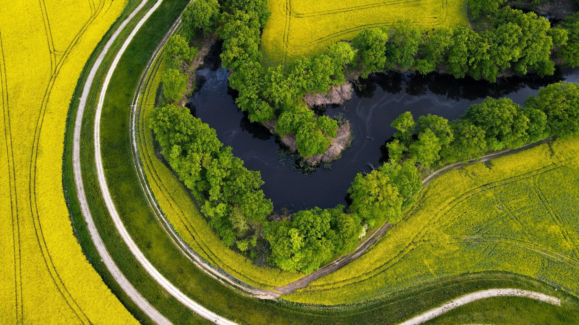 Piękne letnie krajobrazy z lotu ptaka - zdjęcie 3