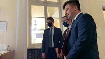 """Ministrowie PiS na kontroli w warszawskim ratuszu. """"Nasza akcja nie jest polityczna"""""""