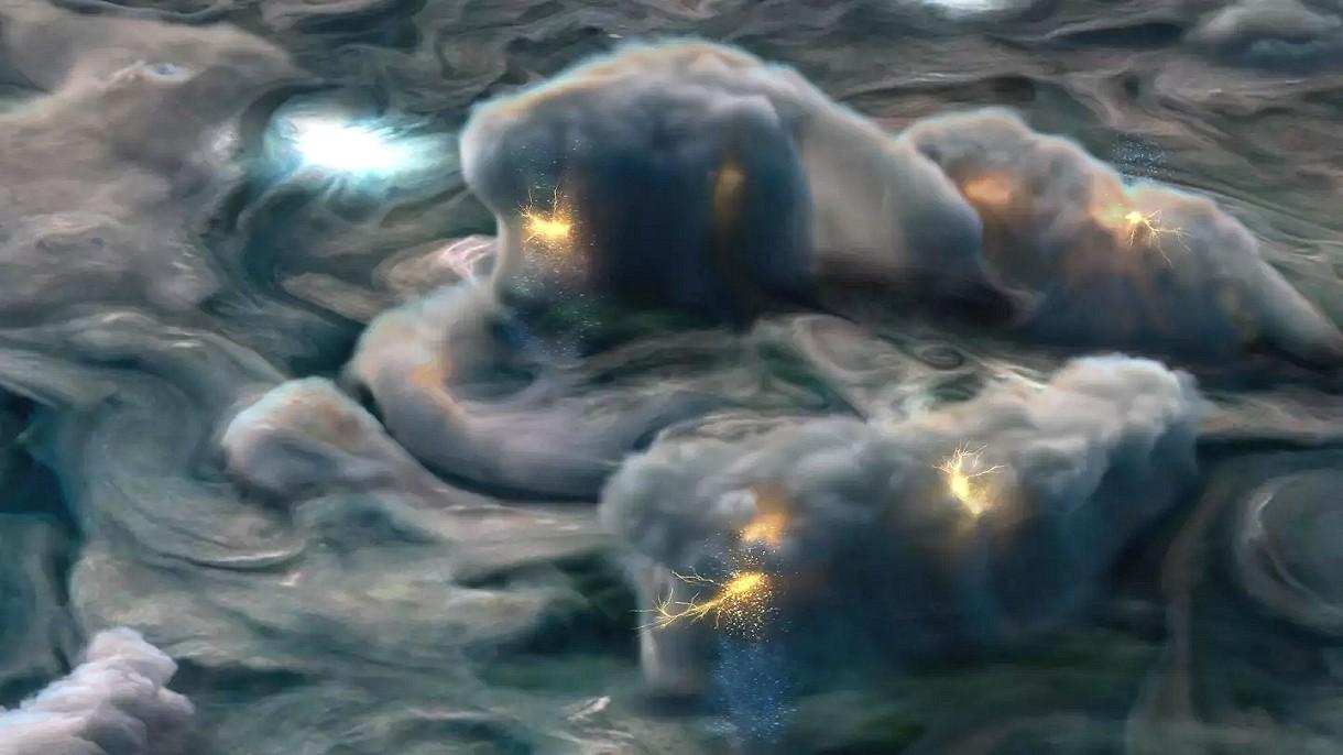 Niesamowita animacja NASA pokazuje, jak powstają burze na Jowiszu [FILM]