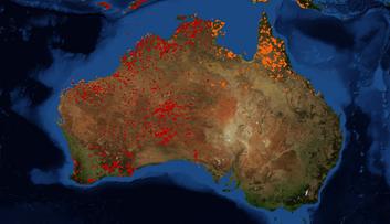 Pożary w Australii. Zdjęcia satelitarne i wizualizacja ilustrująca zniszczenia [FOTOGALERIA]