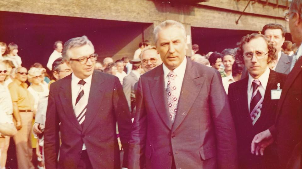 Edward Gierek w czasie wizyty w Niemczech w 1976 roku