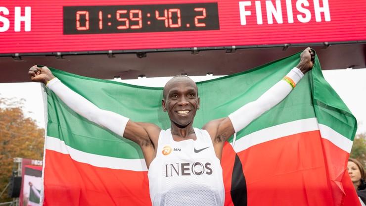Wynik Kipchoge w maratonie wzbudza zachwyt i... wątpliwości